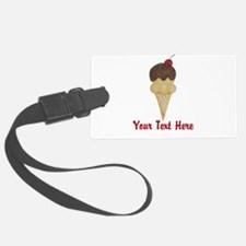 Personalizable Double Scoop Ice Cream Luggage Tag