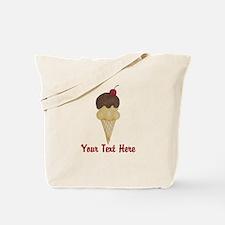 Personalizable Double Scoop Ice Cream Tote Bag