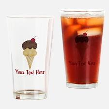 Personalizable Double Scoop Ice Cream Drinking Gla