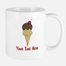 Personalizable Double Scoop Ice Cream Mugs