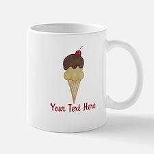 Personalizable Double Scoop Ice Cream Mugs