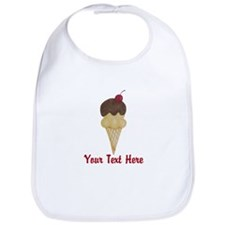 Personalizable Double Scoop Ice Cream Bib