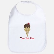 Personalizable Double Scoop Ice Cream Bib
