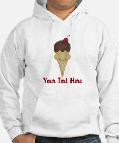 Personalizable Double Scoop Ice Cream Hoodie