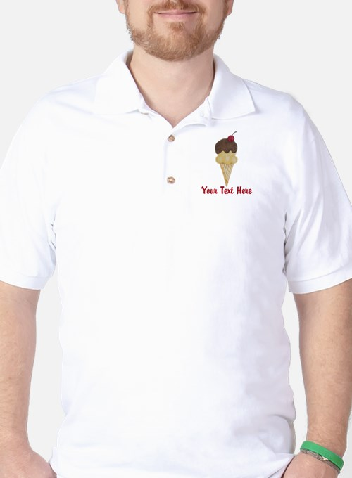 Personalizable Double Scoop Ice Cream T-Shirt