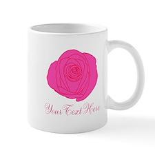 Pesonalizable Pink Rose Mugs