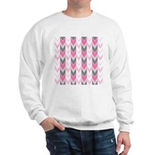 Pink Chevron Pattern Sweatshirt