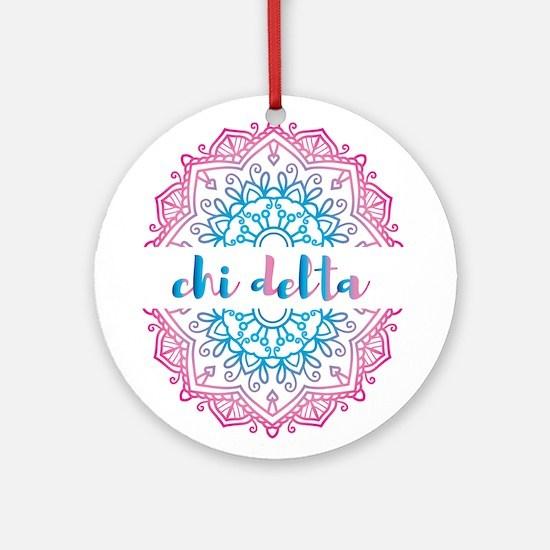 Chi Delta Mandala Round Ornament