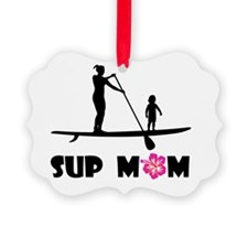 SUP Mom Color Ornament
