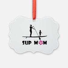 SUP Mom Color Picture Ornament