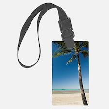 lone palm tree Luggage Tag