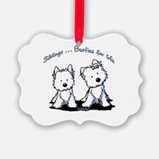 Westie Siblings Ornament