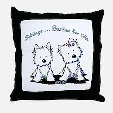 Westie Siblings Throw Pillow