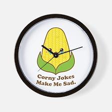Corny Jokes Make Me Sad, Kawaii and Funny Wall Clo