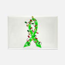 Lyme Disease ChristmasLightsRibbo Rectangle Magnet