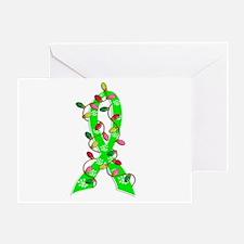 Lyme Disease ChristmasLightsRibbon Greeting Card