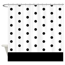 Classic Small Polka Dots Shower Curtain