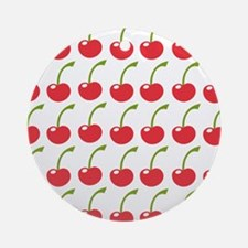 Red Cherries Ornament (Round)
