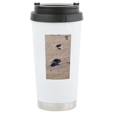 Footprints in the Sand Travel Mug