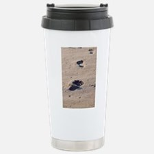 Footprints in the Sand Travel Mug