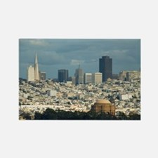 san francisco city skyline Rectangle Magnet