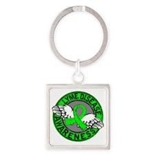 Lyme Disease Awareness 14 Square Keychain