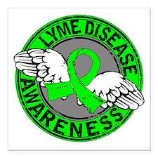 """Lyme Disease Awareness 1 Square Car Magnet 3"""" x 3"""""""