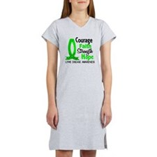 Lyme Disease CourageFaith1 Women's Nightshirt