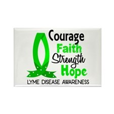 Lyme Disease CourageFaith1 Rectangle Magnet