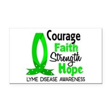 Lyme Disease CourageFaith1 Rectangle Car Magnet