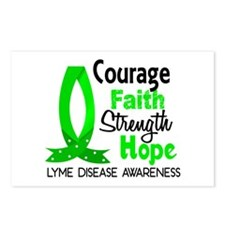 Lyme Disease CourageFaith Postcards (Package of 8)