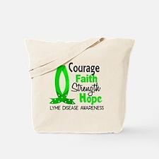 Lyme Disease CourageFaith1 Tote Bag
