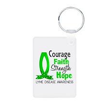 Lyme Disease CourageFaith1 Keychains