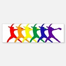 Fastpitch Pitcher Rainbow Bevel Bumper Car Car Sticker