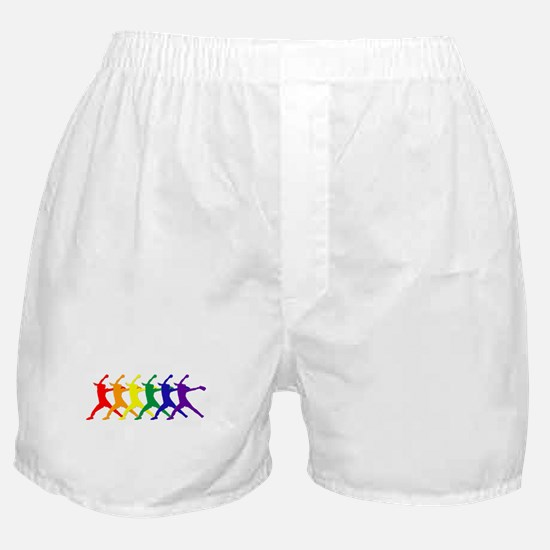 Fastpitch Pitcher Rainbow Bevel Boxer Shorts