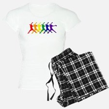 Fastpitch Pitcher Rainbow Bevel Pajamas