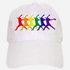 Fastpitch Pitcher Rainbow Bevel Baseball Baseball Baseball Cap