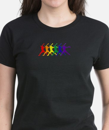 Fastpitch Pitcher Rainbow Bevel T-Shirt