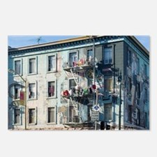 north beach drying laundr Postcards (Package of 8)