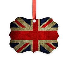 Vintage Grunge Union Jack UK Flag Ornament