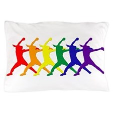 Fastpitch Pitcher Rainbow Bevel Pillow Case