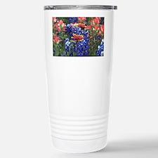 Texas Wildflowers Stainless Steel Travel Mug