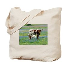 Longhorn in the bluebonnets Tote Bag