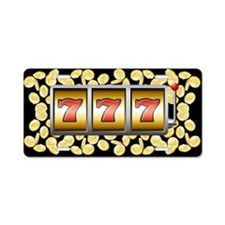 Lucky Sevens Aluminum License Plate