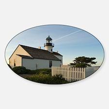 point loma lighthouse Sticker (Oval)
