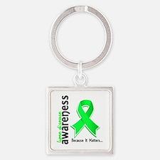 Lyme Disease Awareness 5 Square Keychain