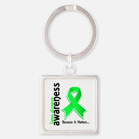 Lyme Disease Awareness 5 Square Keychain