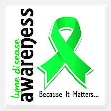 """Lyme Disease Awareness 5 Square Car Magnet 3"""" x 3"""""""