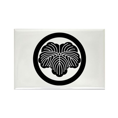 Ivy leaf in circle Rectangle Magnet (100 pack)