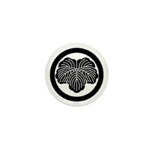 Ivy leaf in circle Mini Button